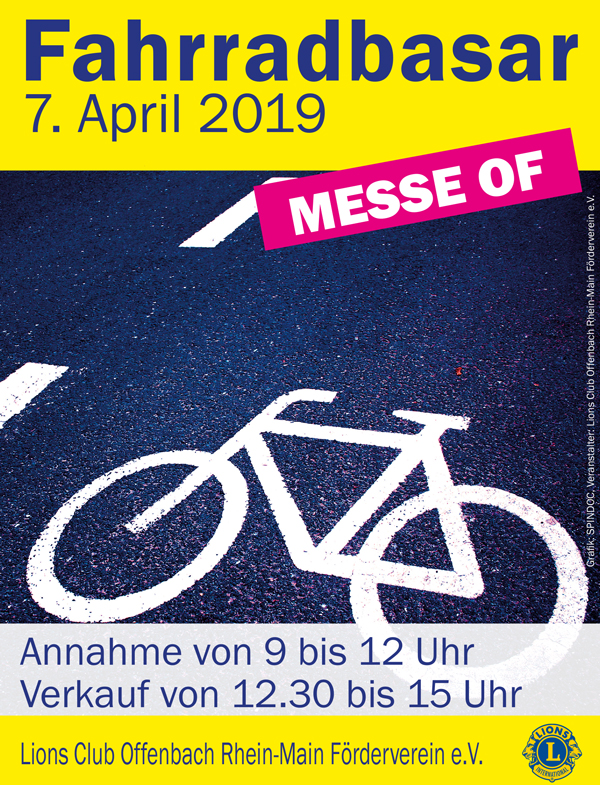 Fahrradbasar Lions Club April 2019